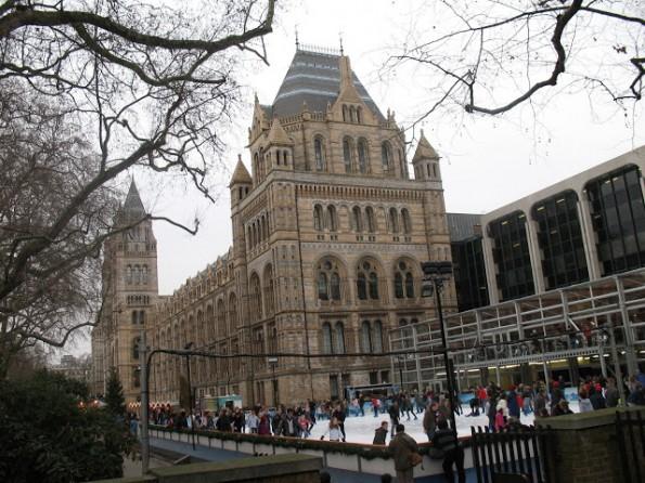 Leuk! De ijsbaan bij het Natural History Museum is weer open!