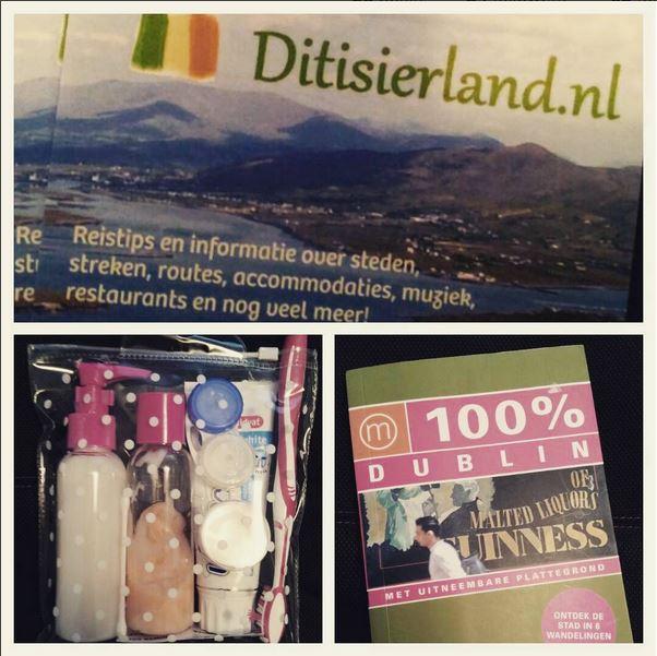Inpakken voor Dublin: visitekaartjes gaan mee, vloeistoffen keurig in een zakje en de 100% Dublin gids!
