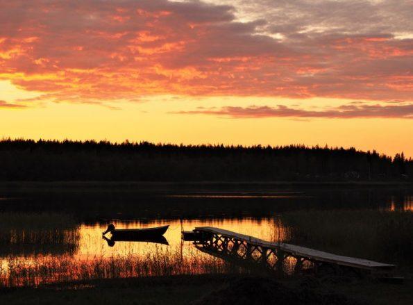 Zweden Pite Havsbad Zweeds Lapland