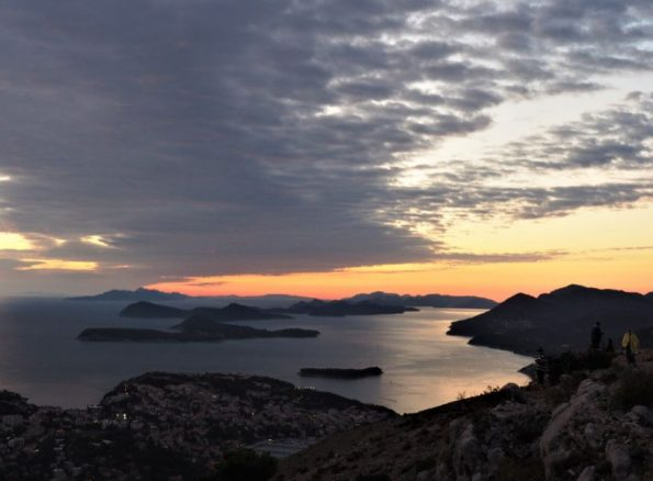 Mount Srd zonsondergang Dubrovnik