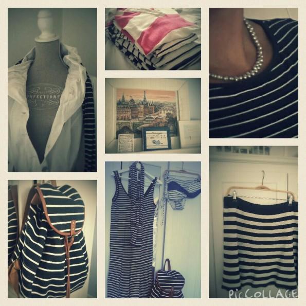 In augustus maakte ik een fotoserie van ál de Bretonse streepjes in mijn garderobekast!