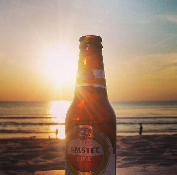 Heerlijk uit eten in Zandvoort en na afloop nog een Radler bij de ondergaande zon!