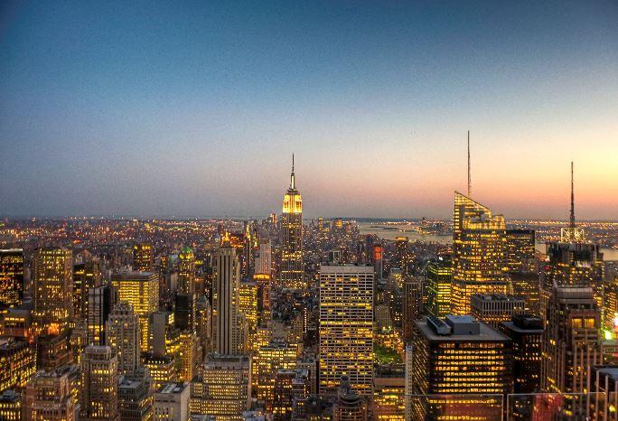 De prachtige skyline van New York!