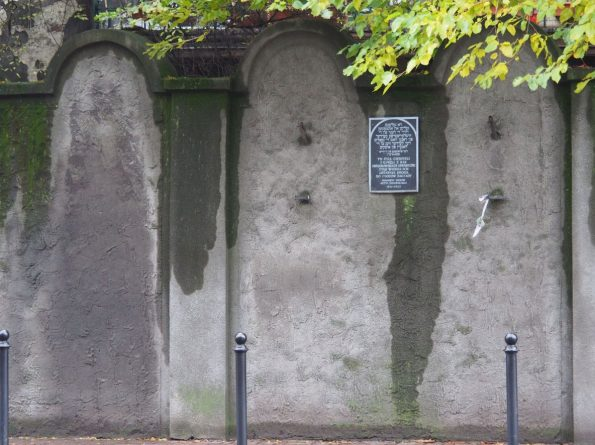 Krakau Podgorze ghetto muur