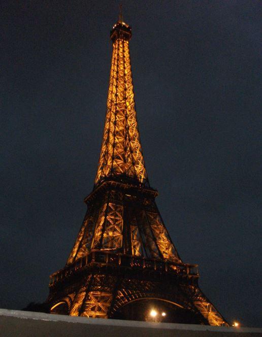 Eiffeltoren nacht Parijs