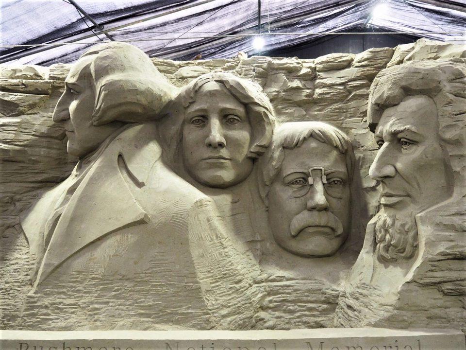 Mount Rushmore Zandsculptuur